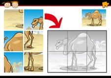 Gioco del puzzle del cammello del fumetto Fotografia Stock Libera da Diritti