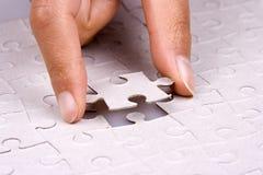 Gioco del puzzle del puzzle Fotografie Stock Libere da Diritti