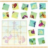 Gioco del puzzle per i bambini Immagini Stock