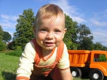 Gioco del ragazzo Fotografie Stock