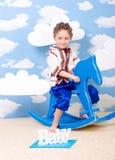 Gioco del ragazzo Fotografia Stock