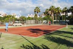 Gioco del tennis Immagine Stock