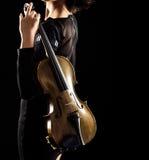 Gioco del violino fotografia stock libera da diritti