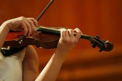 Gioco del violino Fotografia Stock