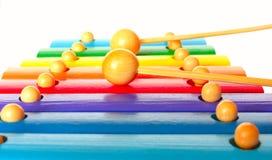 Gioco del xylophone Immagini Stock