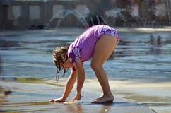 Gioco dell'acqua Fotografia Stock