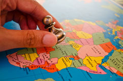 Gioco dell'Africa di scacchi Fotografia Stock Libera da Diritti