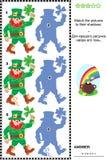 Gioco dell'ombra con i leprechaun Fotografie Stock Libere da Diritti