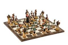 Gioco dell'ornamentale di scacchi fotografie stock libere da diritti