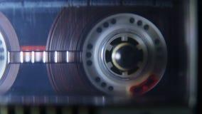 Gioco della bobina dell'audio cassetta stock footage