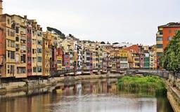 Gioco della città di Girona delle scale dei troni Fotografia Stock Libera da Diritti