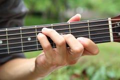 Gioco della corda F# della chitarra fotografie stock