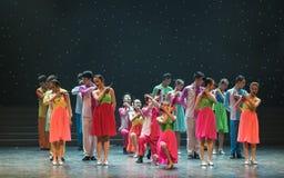 Gioco della danza popolare di Allegro-cinese Immagini Stock