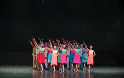 Gioco della danza popolare di Allegro-cinese Fotografia Stock