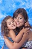 Gioco della figlia e della madre Fotografie Stock