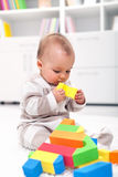 Gioco della neonata Fotografie Stock