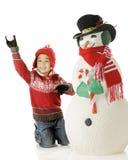 Gioco della neve di natale Immagini Stock Libere da Diritti