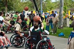 Gioco della pallacanestro Fotografia Stock