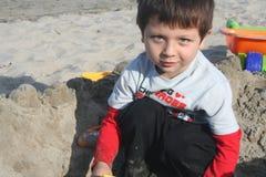 Gioco della sabbia Immagini Stock