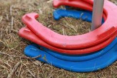 Gioco della scarpa del cavallo Fotografia Stock Libera da Diritti