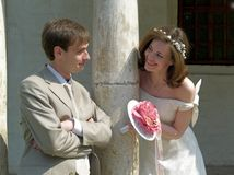 Gioco della sposa e dello sposo Immagine Stock Libera da Diritti