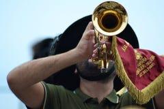 Gioco della tromba Fotografia Stock Libera da Diritti