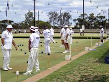 Gioco delle ciotole in Australia Fotografie Stock