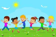 Gioco delle ragazze e dei ragazzi illustrazione vettoriale