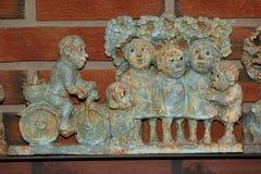 Gioco delle statuette di Troll immagine stock