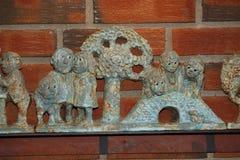 Gioco delle statuette di Troll Immagini Stock