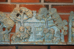 Gioco delle statuette di Troll Fotografie Stock
