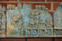 Gioco delle statuette di Troll Fotografia Stock Libera da Diritti