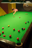 Gioco dello snooker Fotografia Stock