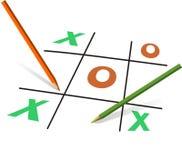 Gioco di affari della O e di X Immagine Stock