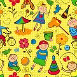 Gioco di bambini con i giocattoli Fotografie Stock Libere da Diritti