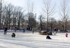 Gioco di bambini congelato della fontana Fotografia Stock Libera da Diritti