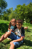 Gioco di bambini felice Immagini Stock Libere da Diritti
