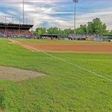 Gioco di baseball della lega minore Fotografie Stock