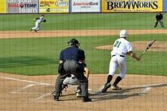 Gioco di baseball di campionato della High School Immagini Stock Libere da Diritti