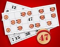 Gioco di bingo Fotografia Stock