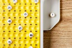 Gioco di bingo Fotografie Stock
