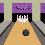Gioco di bowling. Fotografia Stock