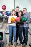 Gioco di bowling fotografie stock libere da diritti