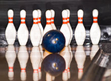 Gioco di bowling Fotografia Stock
