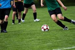 Gioco di calcio Fotografia Stock