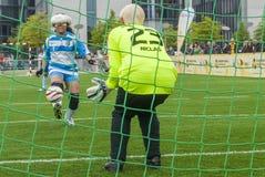 Gioco di calcio cieco Fotografie Stock Libere da Diritti