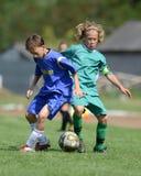 Gioco di calcio di Baja - di Kaposvar U14 Fotografia Stock