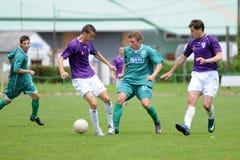 Gioco di calcio di Kecskemet - di Kaposvar U19 Fotografia Stock Libera da Diritti
