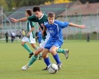 Gioco di calcio di Komlo - di Kaposvar U17 Immagine Stock