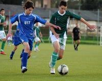Gioco di calcio di Komlo - di Kaposvar U17 Immagine Stock Libera da Diritti